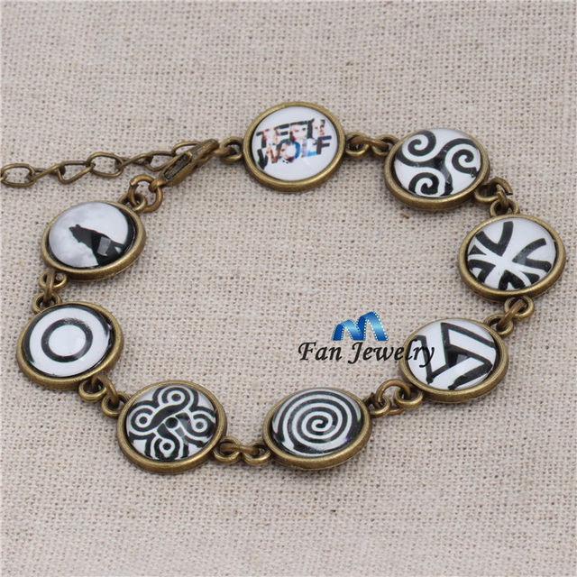 Online Shop New Antique Bronze Teen Wolf Symbols Bracelets Sl916