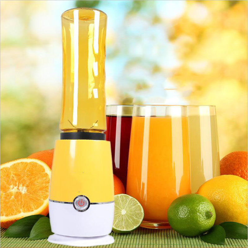 Shake n take Mini Juicer Portable Handheld Juice Maker Mini Electric Juice Extractor Machine Double Cups image