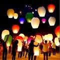 20 pcs cinco cores Chinês da Lanterna de Papel Lanternas do Céu Kongming Voador Wishing Lamp Wedding Party Balloon Decoração