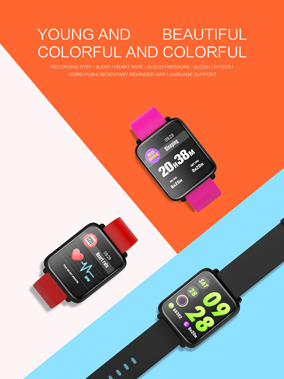 COLMI Smart Watch M28 IP68 Waterproof Bluetooth Heart Rate Blood Pressure Smartwatch for Xiao mi Android IOS Phone 1