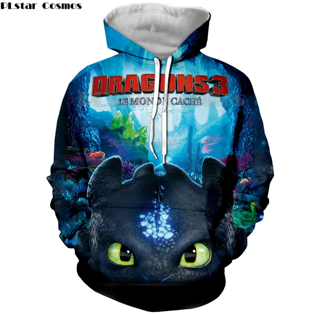 PLstar Cosmos 3D Print New Arrival How to Train Your Dragon Mens Printed black shirt Loose Pullover Womens Hoodie&Sweatshirts