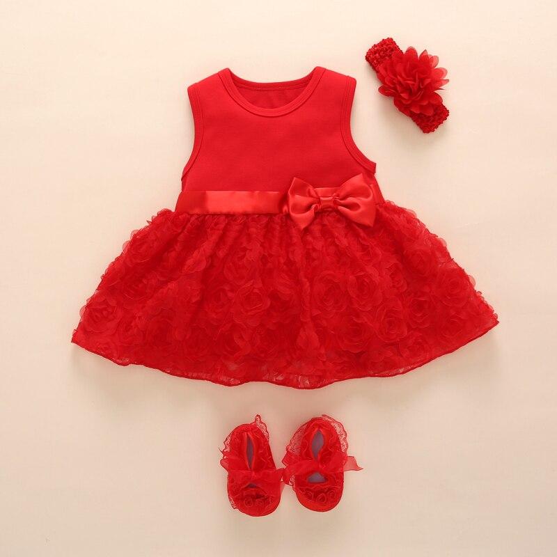 Recién Nacido bebé niñas Bebé y ropa de verano los niños fiesta de cumpleaños trajes 1-2years Zapatos de vestido de bautizo bebé Jurk zomer