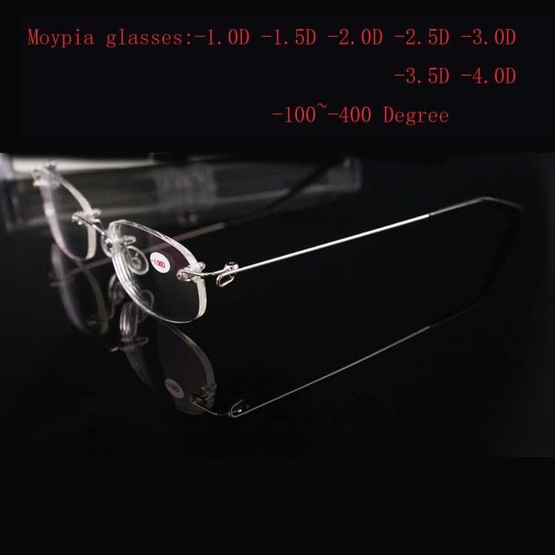Rimless Metal Frame Yaxın Görünüşlü Şüşə Ultralight Boxed - Geyim aksesuarları - Fotoqrafiya 3
