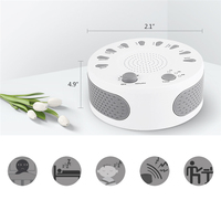Portable White Noise Sound Machine Baby Light Sleep Therapy Regulator With 9 Plant Soothing Sound For