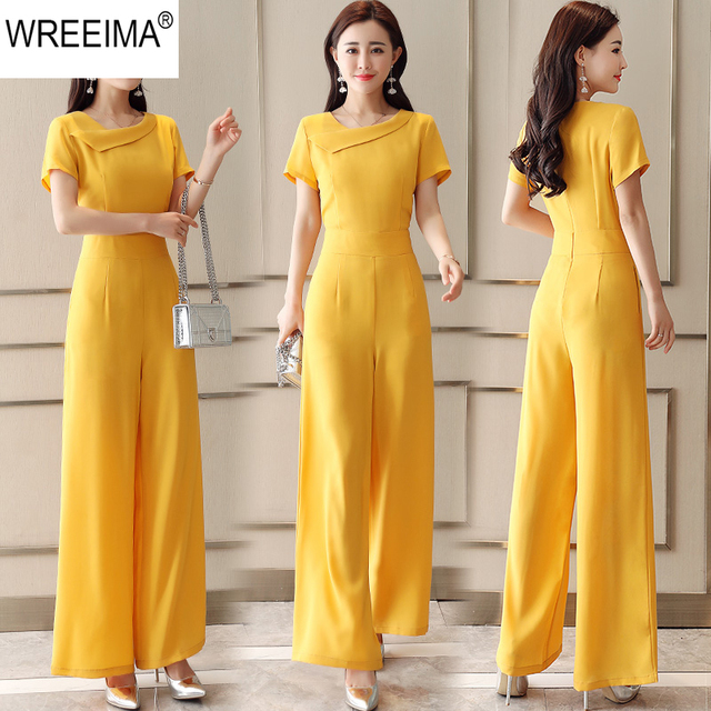 9b936b98d82 2018 Fashion Women One Pieces Suit Jump suit Casual Loose Sexy V-Neck Long  Sleeve Summer Jump suits For Female size S-2XL C750