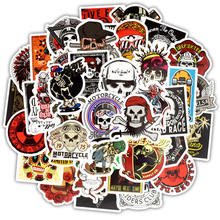 50pcs/pack mixed spoof horror skull compute stickers vinyl laptop skin graffiti for moto car &suitcase MacBook