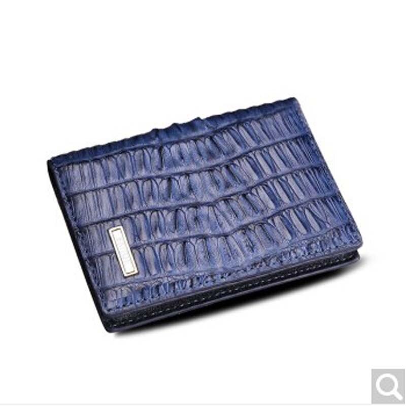 2018 Beijue Crocodile skin business men clutch Bag Leather card bag business card holder Blue never leather badge holder business card holder neck lanyards for id cards waterproof antimagnetic card sets school supplies