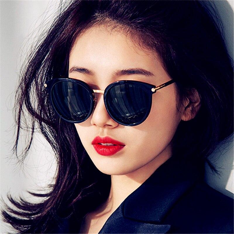 992191f84c Detail Feedback Questions about CURTAIN Gordijn Zonnebril Gafas de sol  Mujer Vintage Korean Sunglasses Top Round Frame Fashion Ladies Wild  Colorful Sun ...