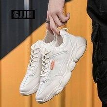 SJJH mujeres Sneakers vulcanizan Casual Ladies Flats Casual Chaussure amantes cordones calzado cómodo niñas zapatos A1393