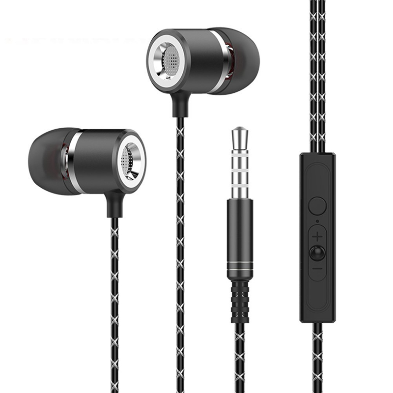 Original 3.5MM Metal In-ear Wired Earphones HiFi Stereo Bass Earphone Headphones With Microphone For Phone Computer Headset genuine xiaomi hybrid earphone auricolariin ear hifi headset microphone pro multi unit circle iron headphones mobile earphones