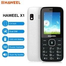 Haweel X1 Handy 2,4 zoll GSM Handy Dual-SIM Große lautsprecher FM TF Taschenlampe Russische Tastatur Älteren Telefon Hinzuzufügen Zappeln Spinner