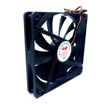 140mm fan quiet cooling fan 140*140*25mm DC12V 0.30A(Rated Current 0.16A) computer case cooling fan 950RPM
