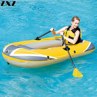 220*121cm 2/3Person Thickening PVC Inflatable Boat Raft River Lake Diver Kayak Cushion Fender Rowing Fishing Boats Paddle Pump