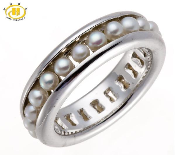 Hutang Full Set Água Doce da Pérola 925 Prata Esterlina Sólida Anel Projeto Original Fine Jewelry Presente de Casamento