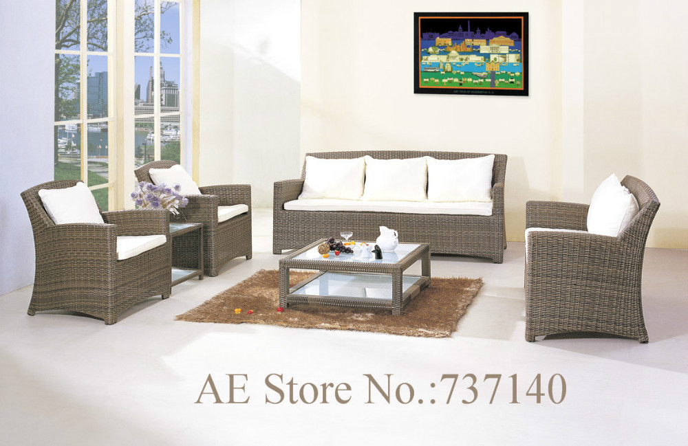 living room luxury rattan sofa set outdoor rattan furniture living room sofa garden furniture wholesale price purchasing agent