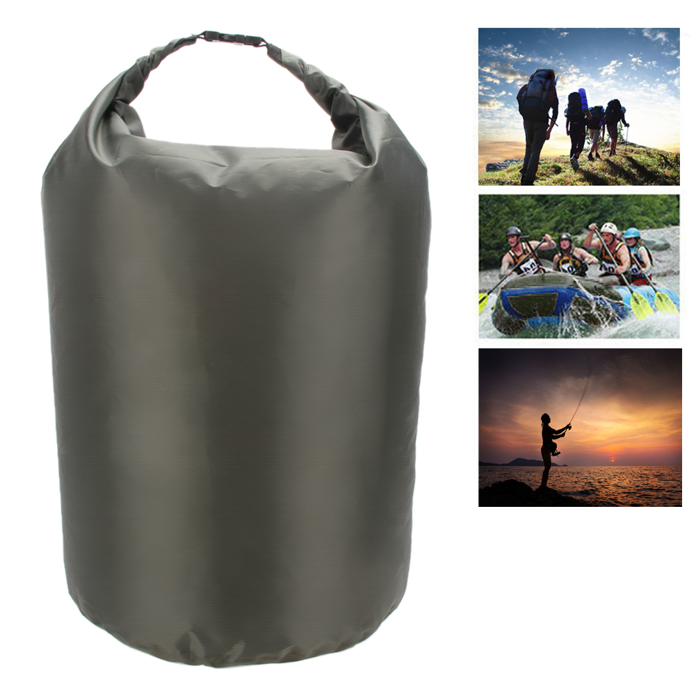 Portable 40L Waterproof Dry Bag Outdoor Camping Phone Holder Clothes Compressed Storage Bag for Water Sports Canoe Kayak Rafting