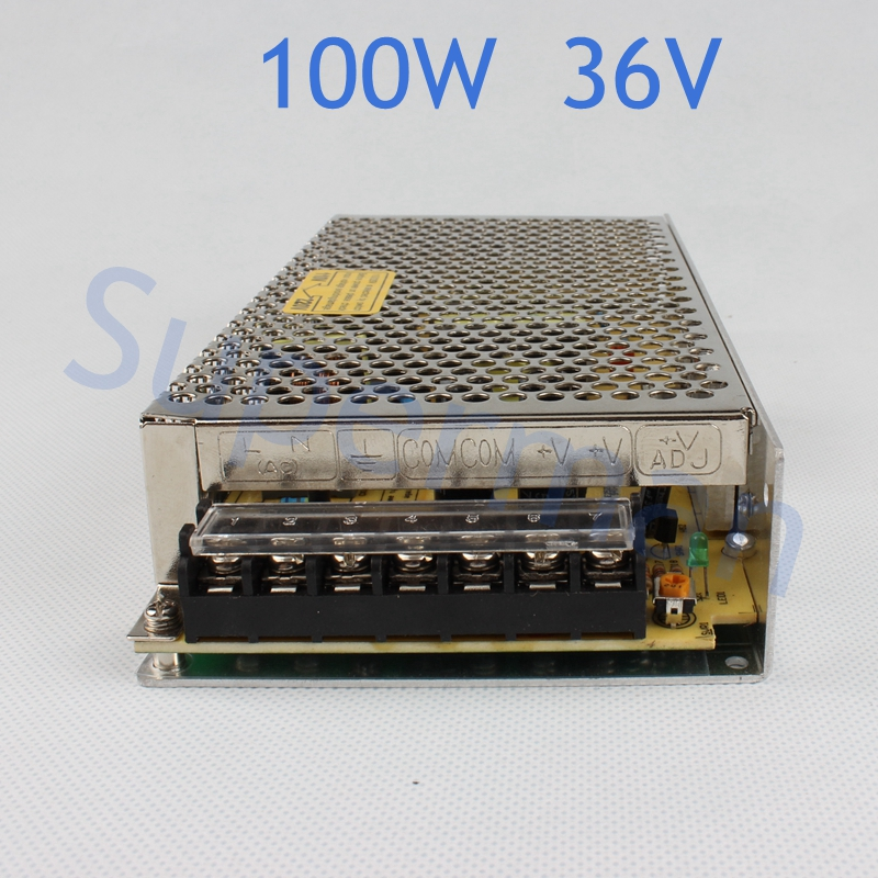 power supply 100W 36V 2.8A power suply unit 100w 36v mini size din led ac dc converter ms-100-36 mini size 50w 36v 1 4a switch mode led light devices switching power supply ac dc psu 100 110 220 230v ms 50 36