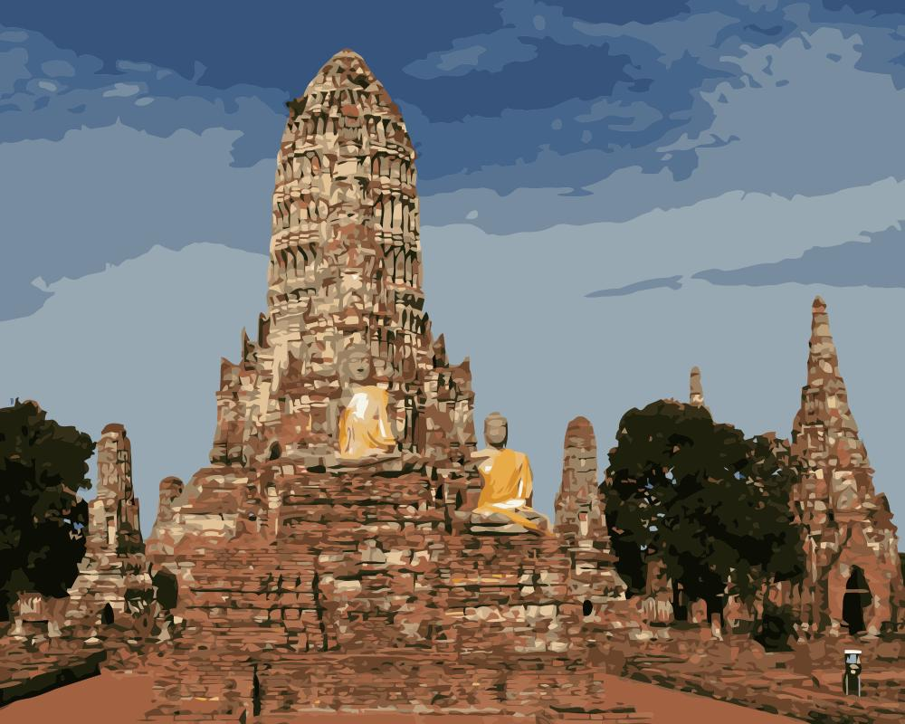 MaHuaf j647 History of Thailand coloring by numbers landscape ...