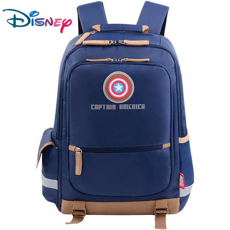 Disney Waterproof School Book Backpack Cartoon Student Bags Kids Boys New Upgraded Reflective Large Capacity Bag 2019 New