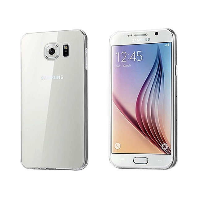 e8127d19d45 For pokrowce na telefon samsung galaxy s6 edge Clear Drop Protection Thin  TPU Transparent Gel Skin