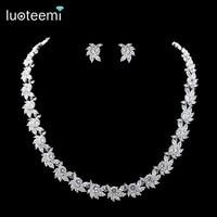 Teemi Brand 2016 New Elegant Flower Clear CZ Crystal Necklace Top Quality Wedding Bridal Jewelry Gift