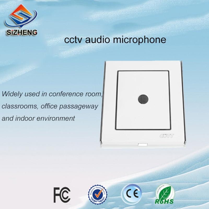 SIZHENG COTT-C6 Wall Listening Audio Device CCTV Audio Surveillance Sensitive Sound Pickup For Security Camera
