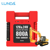 LUNDA Car Jump Starter Battery Portable Charger Power Bank With 24000mAh Capacity For 12V 24 Volt