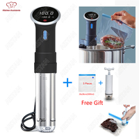 CS1 Culinary Sous Vide Precision Cooker, Vacuum Food Cooking Machine, Immersion Circulator Slow Cooker 1000 Watts S.steel Black