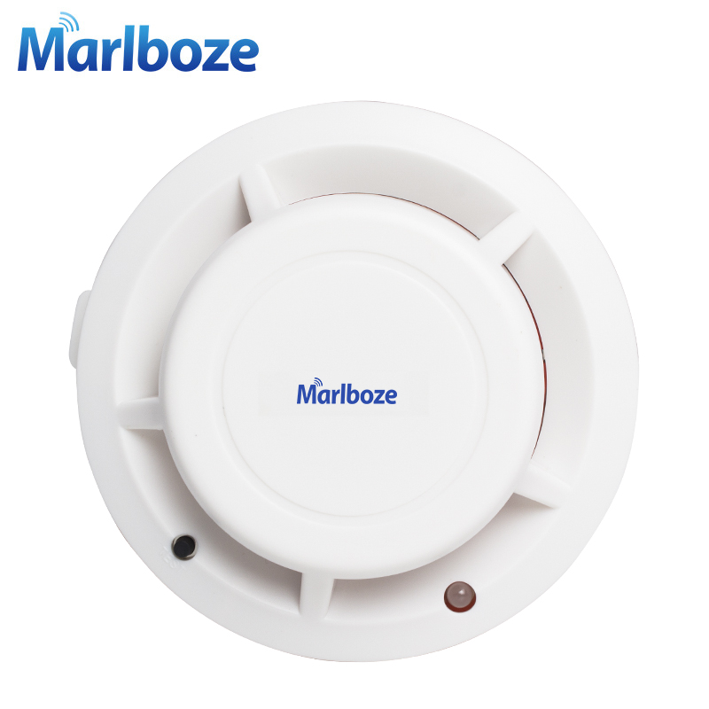 цена Free Shipping 1pcs Wireless Photoelectric Smoke Fire Detector for Wireless Home Security Auto Dial Alarm System Smog Sensor