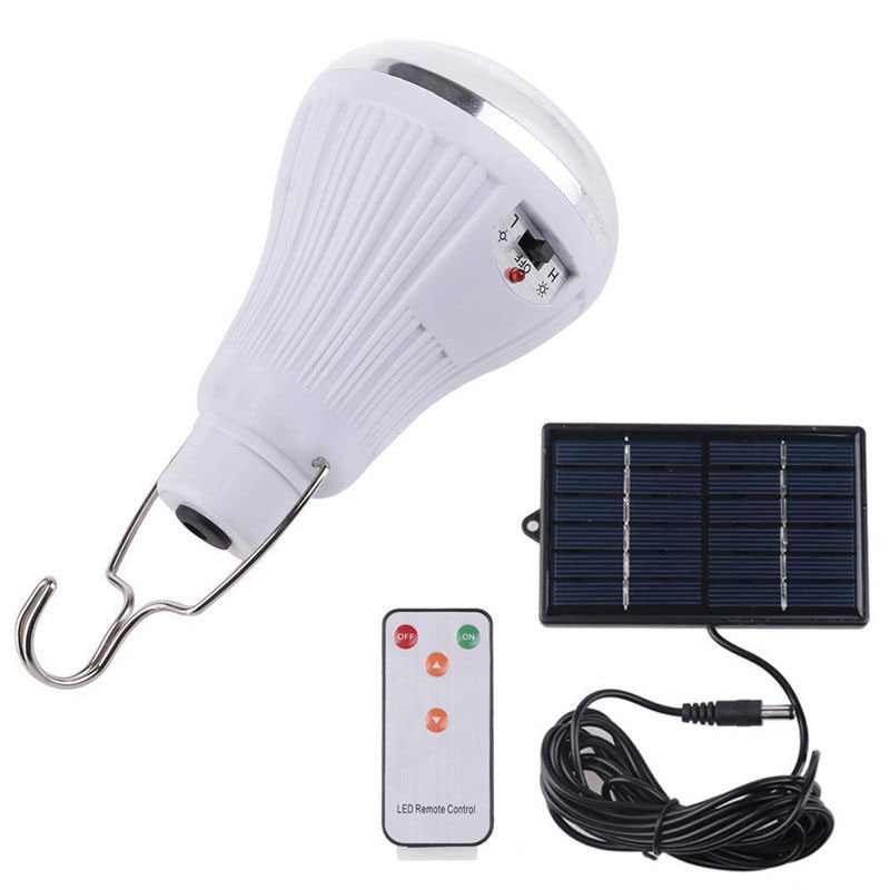 20LEDs Outdoor Indoor Solar Lamp Hooking Camp Garden LED Bulbs with Wireless Remote Control Solar Panel--M25 20a 12 24v solar regulator with remote meter for duo battery charging