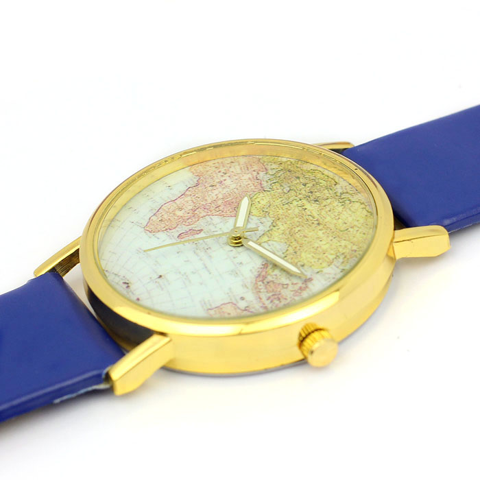 Lovesky fashion 2017 womens watches retro world map design leather aeproducttsubject gumiabroncs Gallery