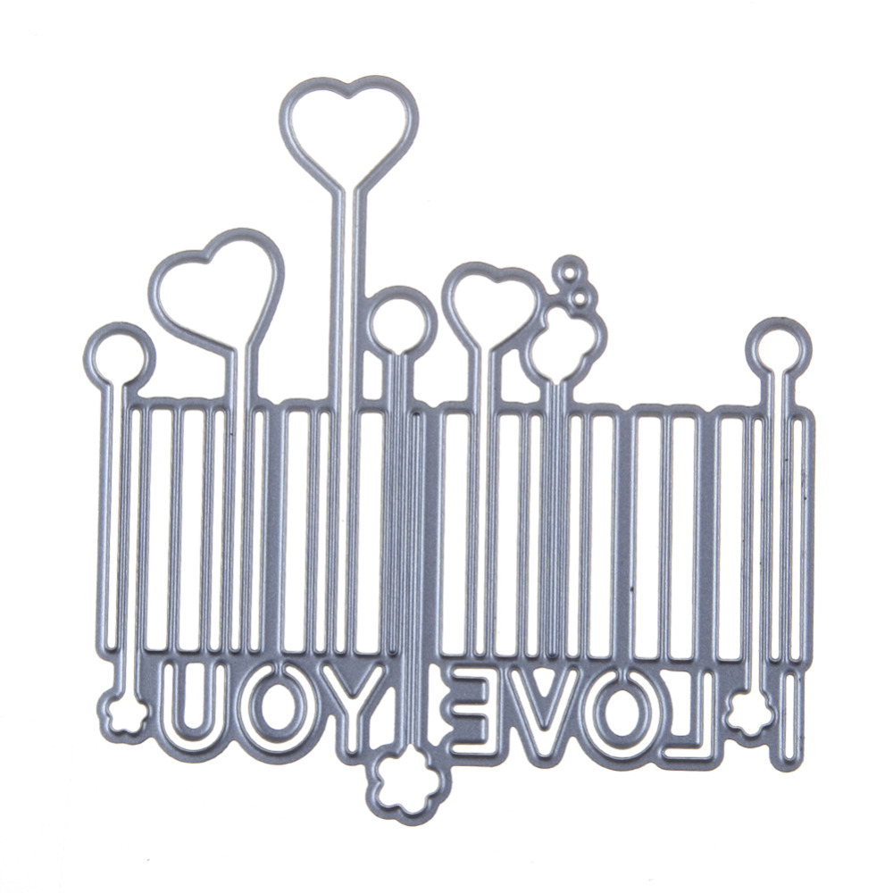 78*80mm scrapbooking DIY Barcode heart balloon Shape Metal steel cutting die love Shape Book photo album art card Dies Cut
