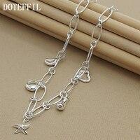 DOTEFFIL-collar con colgante de plata de ley 925 con forma de corazón y estrella, para mujeres
