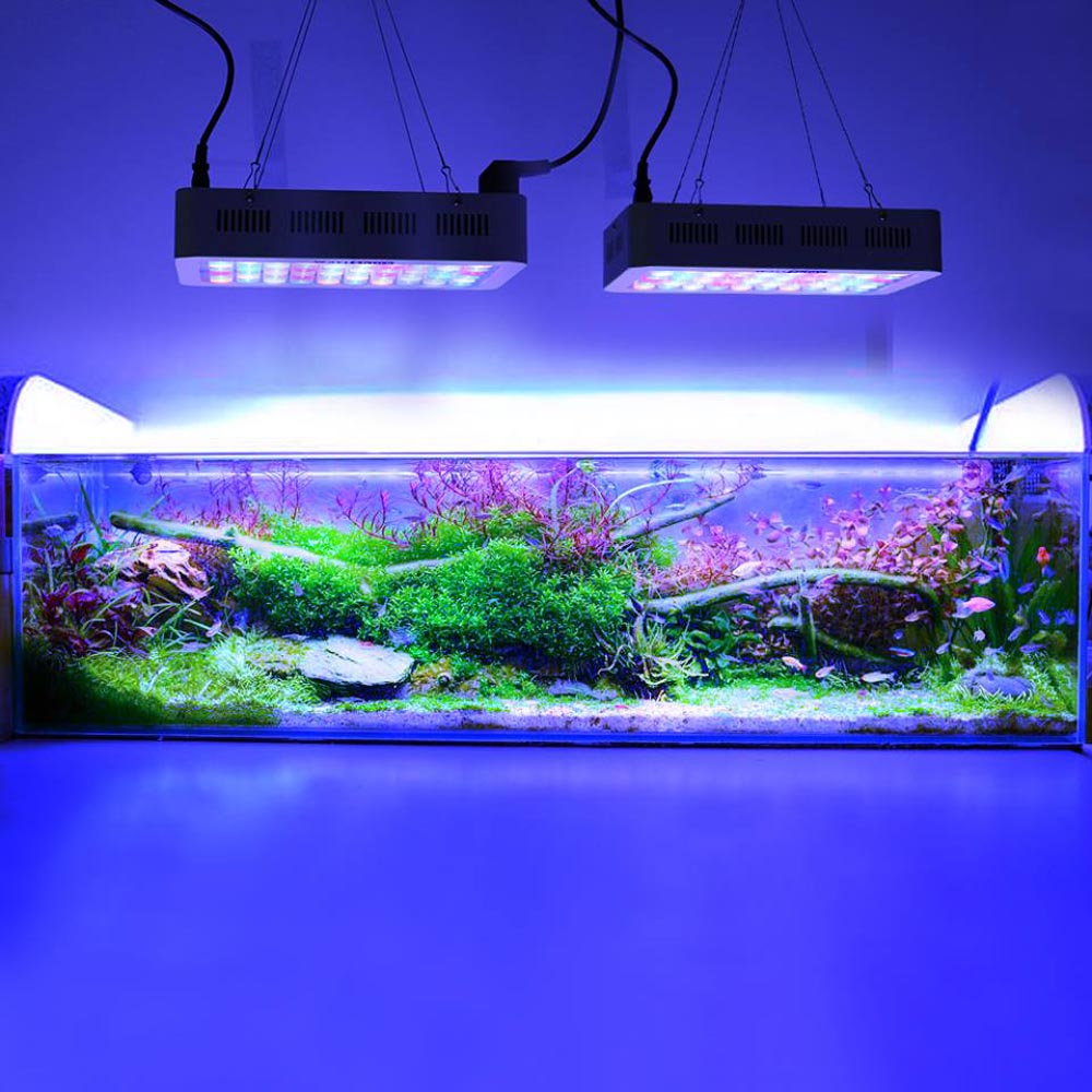 Купить с кэшбэком Aquarium light 180w Dimmable Led Aquarium lights Coral lamp for marine aquarium dimmer Professional Fish & Aquatic lightings
