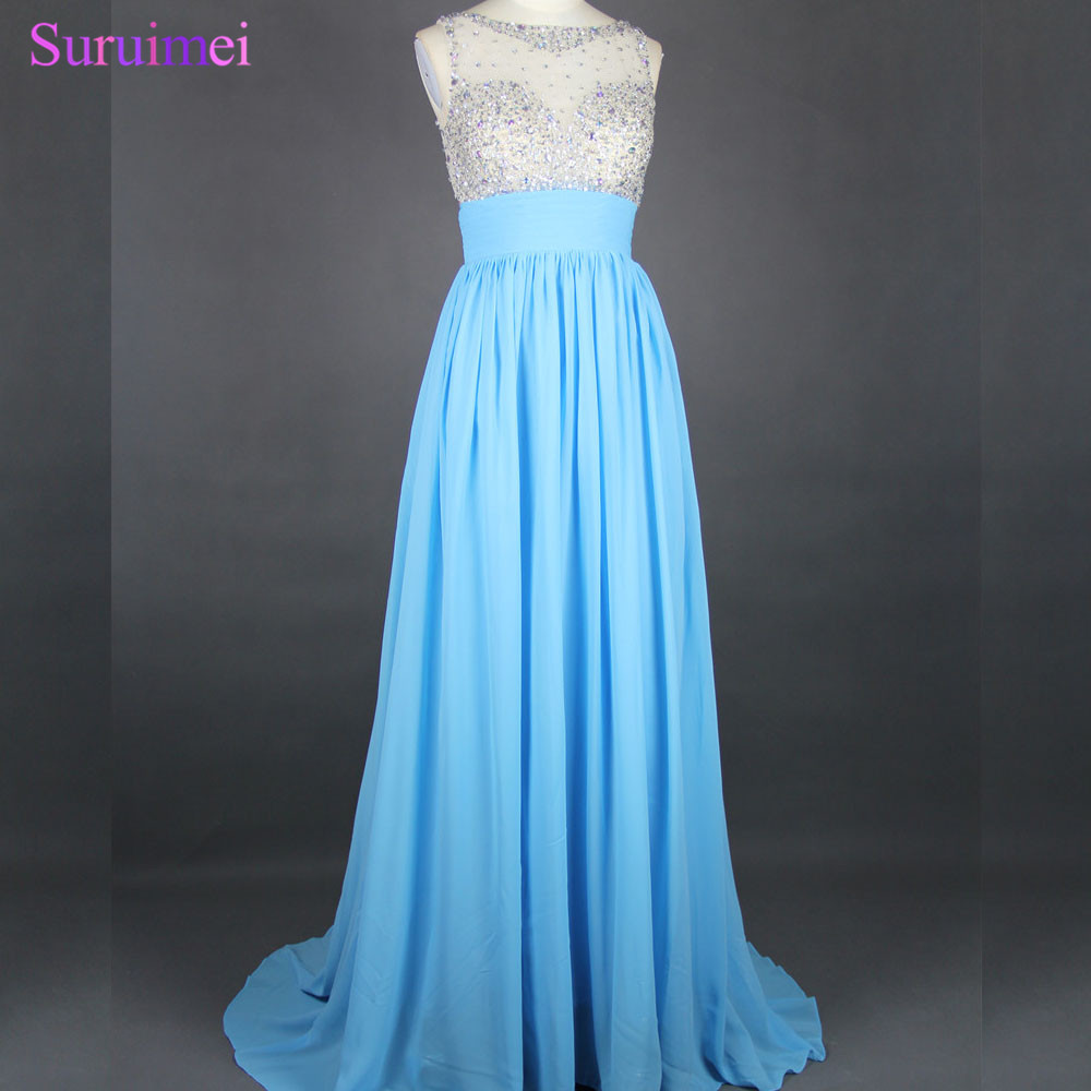 ᗕFactory Real Pictures! High Quality Long Beaded Prom Dresses ...