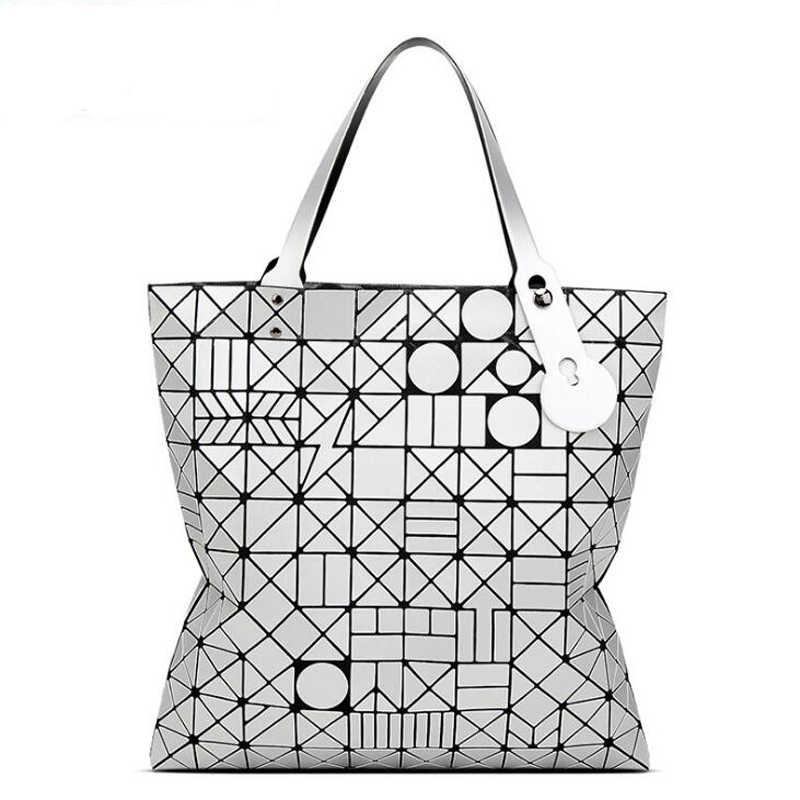 2373337cda New Fashion Women Bag European Style tote Big Geometric Issey Miyak Bag  Luxury Brand Designer High