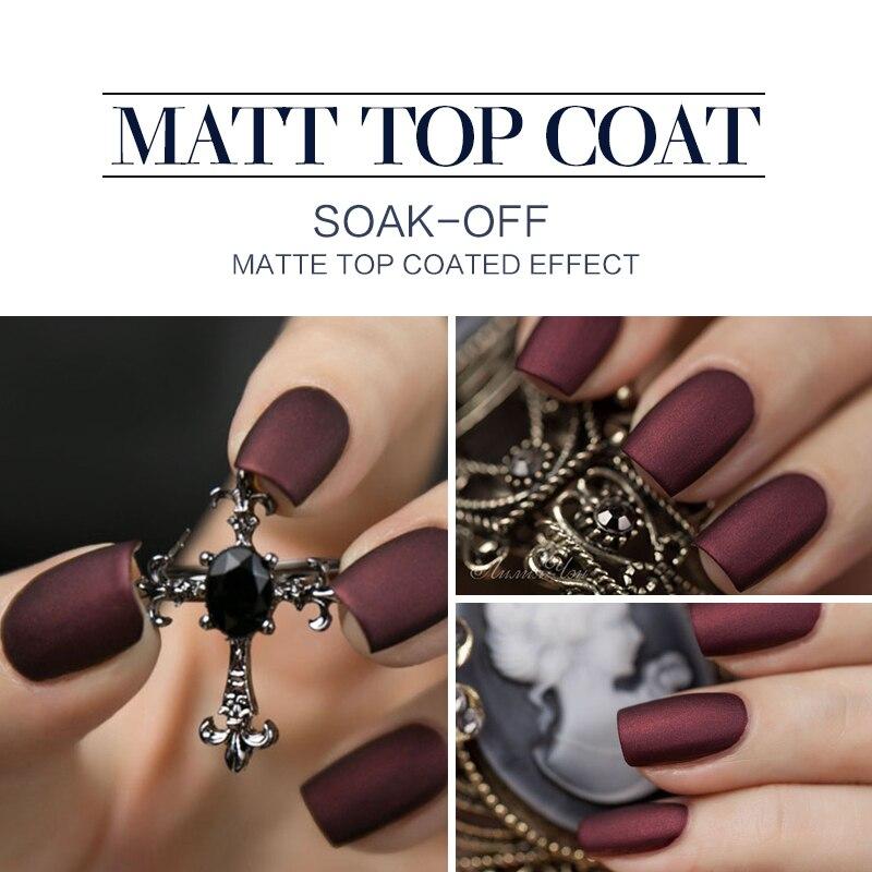 Azure Hot Matte Top Coat UV Nail Gel Polish Matte Effect Gel Polish ...
