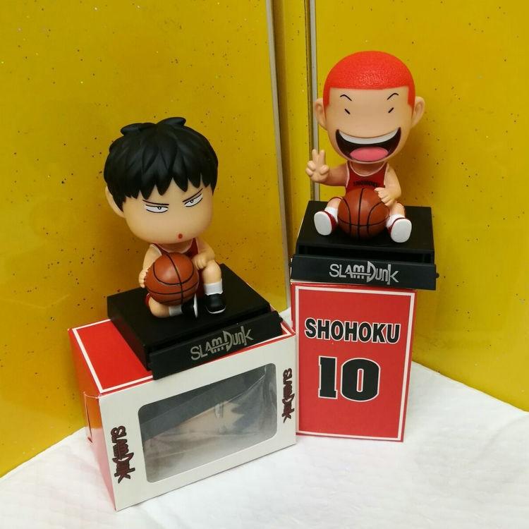 Slam Dunk Bobble Head Hanamichi Sakuragi /& Rukawa Kaede ACGN PVC Action Figure