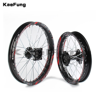 Black 12mm 15mm Front 1.40 14 inch Rear 1.85 12 inch Alloy Wheel Rim For 160cc 150CC Dirt Pit bike 12 14 inch wheel