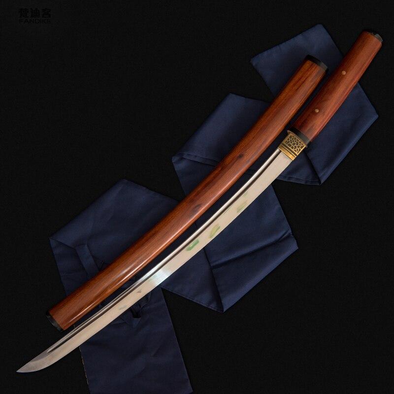 Fully Handmade Clay Tempered T1095 Steel Japanese Shirasaya Samurai Katana Sword Sharp Katana Ninja Wakizashi