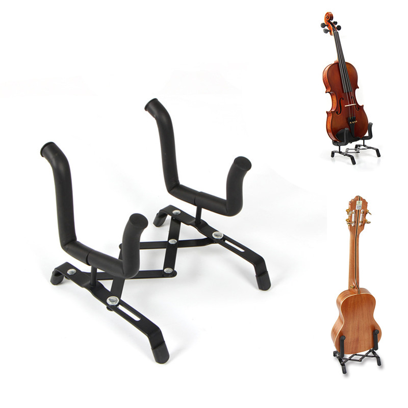 US $2 7 36% OFF|Professional Portable Folding Violin Stand Musical  Instrument Fiddle Floor Holder Rack Violins Guitar Accessories-in Violin  Parts &