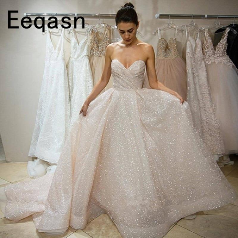 New Glitter Wedding Dress Off The Shoulder Bling Bling