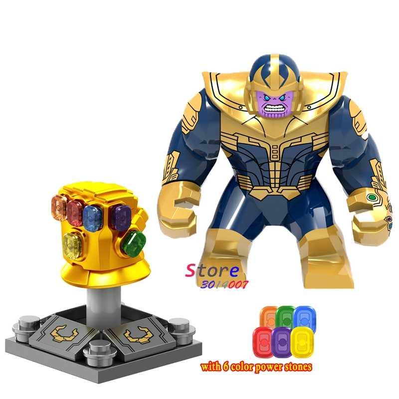 เดี่ยว Marvel Avengers 3 สงครามอินฟินิตี้ Infinity Gauntlet หิน Thanos Iron Man Spider-Man Building บล็อกของเล่นสำหรับเด็ก