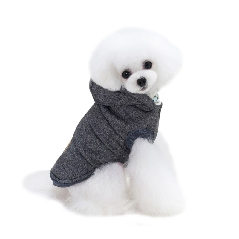 Mustache Hooded Style Pet Dog Thick Winter Coat Clothes From S to XXL Dog Coat Dogs Clothes
