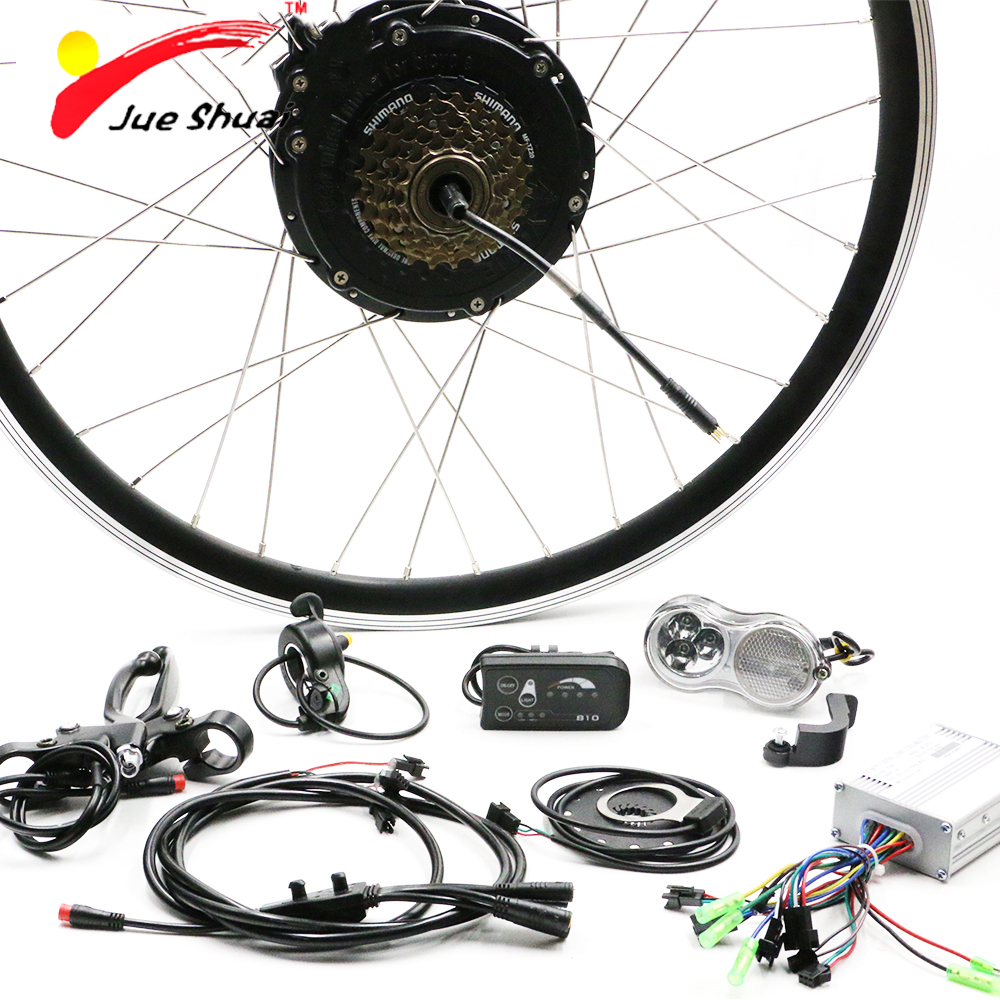 36V 500W Electric Bike E Bike Rear Wheel Motors for 26 700C Bike Bicycle LCD LED Display Controller Hall Sensor Ebike Kit