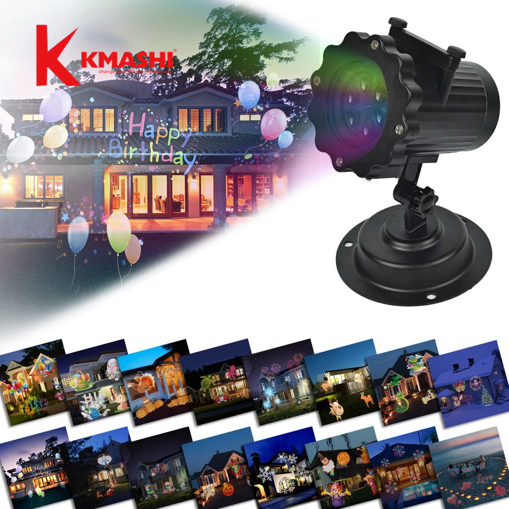 Kmashi Snowflake Projector Lights Outdoor LED Laser Stage Chrismas Halloween Decoration Light for DJ Bar Party Garden Home EU US kmashi snowflake projector lights outdoor led laser stage chrismas halloween decoration light for dj bar party garden home eu us