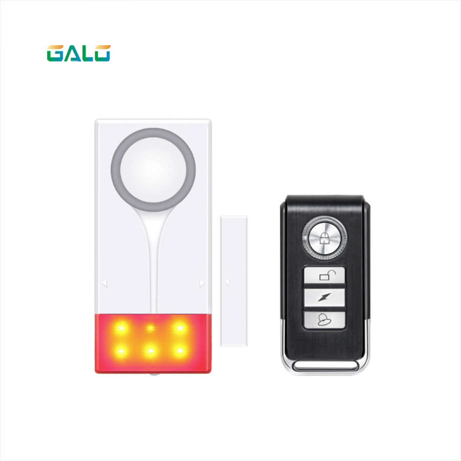 GALO 433MHZ Wireless Remotrl Door Window Sensor Detector With LED Flash Light And 108db Sound Security Alarm System
