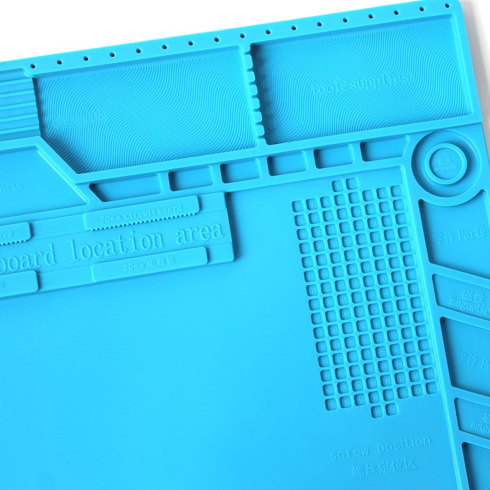 Image 2 - S 170 Insulation Pad Heat Resistant Silicon Soldering Mat 480mm X 318mm Working Pad Desk Platform Solder Rework Repair ToolsElectric Soldering Irons   - AliExpress