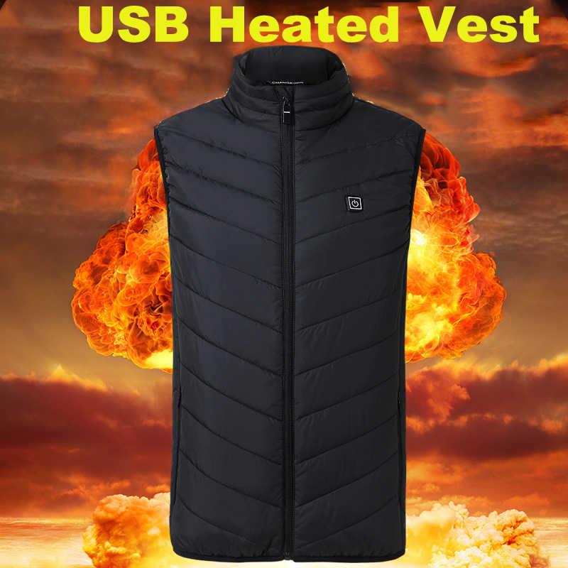 Usb Heated Outdoor Vest Men Women Heated Vest Thermal Warm Heated Jacket  Winter Usb Heater Heating Jacket Electric Hiking Vest|Hiking Vests| -  AliExpress