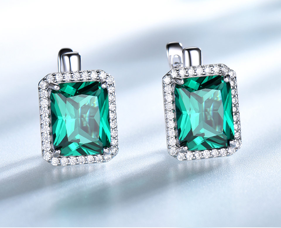UMCHO-Emerald-925-sterling-silver-clip-earrings-for-women-EUJ082E-1-PC_03 -